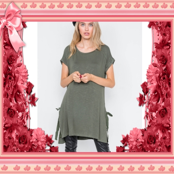CLOSING Super Cute New Olive High Low Top